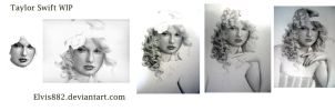 Taylor Swift drawing process by CallieFink