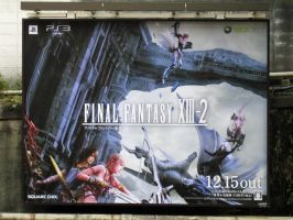 FFXIII-2 Advertisement signboard 2 by RyuAmano