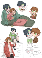 Milo and Luke sketchies by Jolly-Boogster-Yo