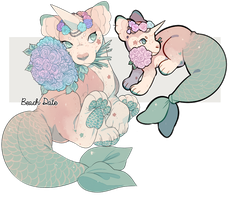 Beach Date VDay Plush Dragon RE-AUCTION - CLOSED by stormcat
