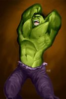 Incredible Hulk digital paint by elguapo6