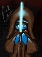 May the force be with you, Poni1Kenobi by TellabArt