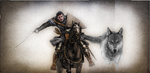 The Wolf King Rides - inspired by S. Stark by QuillBlade15