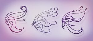 3 Free Design Bloomix Wings (LineArt) by MishAir