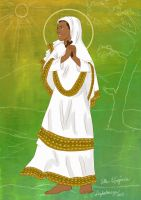 St. Ephigenia of Ethiopia by artelizdesouza