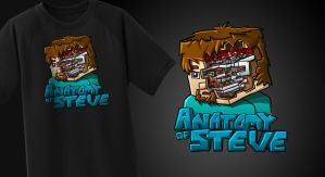 Anatomy Of Steve - T-Shirt by FinsGraphics