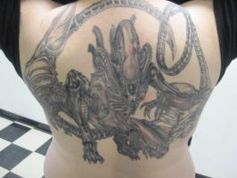 xenomorph backpiece by ChrisOzFulton