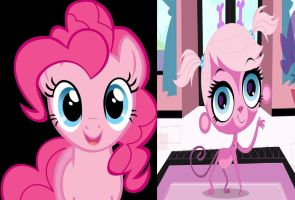 Pinkie Pie and Minka Mark by Cartoonfangirl4