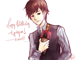 Kyu's birthday by karumeru