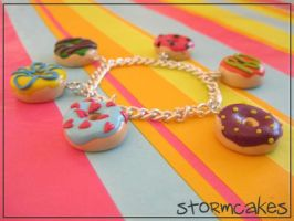 Colourful Donut Bracelet by dubloon-o-matic