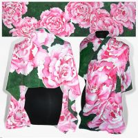 Silk scarf - Peonia - FOR SALE by MinkuLul