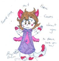 Miss Kitty someone cares about you by Kittychan2005