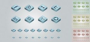 Free PSD Icons 4 Colors Set by ait-themes