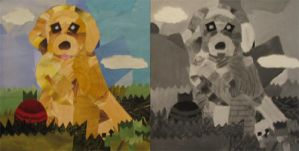 Puppy collage by DT1087