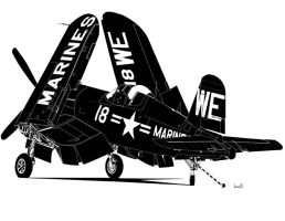 F4U-4 Corsair by bowdenja
