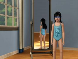 Sims 3 - Me in child form in swimsuit 2 by Magic-Kristina-KW