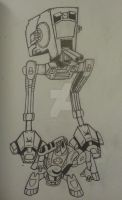 AT-ST and Spydor mecha! by Lehvorak