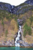 A waterfall into fjord 1 by TFuruhashii
