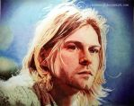 The Man Who Sold The World (Kurt Cobain in Biro) by zwoman