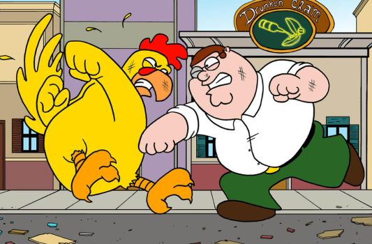 Chicken Fight Family Guy by phymns