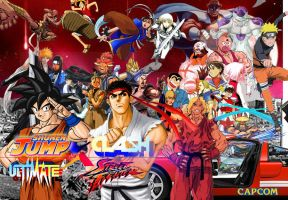 Shonen Jump X Street Fighter by vsking123