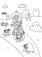 Princess Peach loses her shoes by MandrakeMoorglade