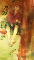 Gintama-slacker on the tree by Gin-Uzumaki