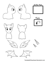 Chibi Pony Template by Clawshawt