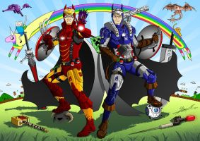 Hero Twins of Justice by LoneWolf-dragon