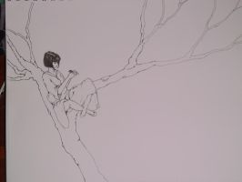Girl in a tree -wip- by ImagineArtVibes