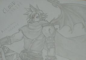 Winged Cloud Strife by movie2kaza