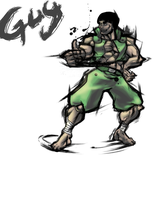 SF4- guy by FlamingSkullofFire
