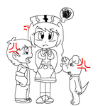 AT: karin meeting mike and spike by Captor-Variety-Girl