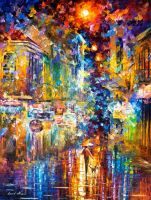 Strolling in Paris by Leonid Afremov by Leonidafremov