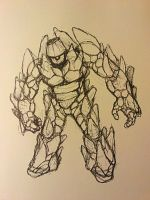 Golem Sketch by HeavenMGN
