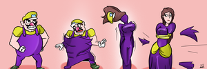 Kiriban prize: Wario into princess by TGedNathan