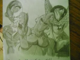 Freezer ,Majin buu y Cell by suridel