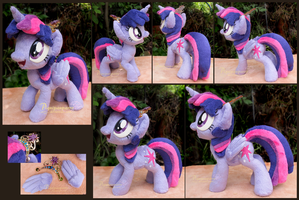 Twilight Sparkle - handmade art-plushie by Piquipauparro