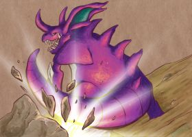 034 Nidoking by CapnShortstack