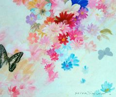Butterfly with flower by temma22