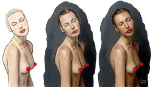 Digital painting nude by ryanbrown-colour