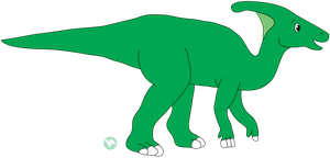 Dave the Parasaurolophus by DinoLover09