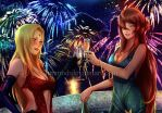 Tsunade x Mei: Toasting the New Year (Close-up) by JuPMod