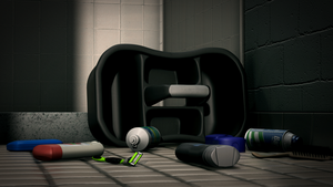 Various Objects in a Bathroom 4 by theACB