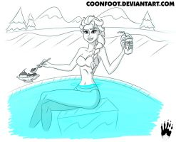 Sketch-a-Day 30: The Cold Never Bothered Me Anyway by Coonfoot
