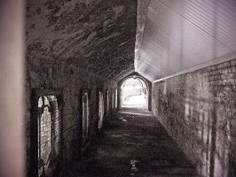 Abandoned laundry tunnel by Bearpaw78