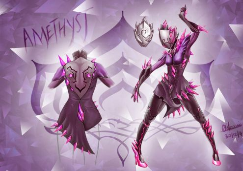 Amethyst ~ Warframe of Blooming Crystals by InoriAizaki