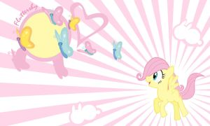 Fluttershy Filly Wall by Evilarticfox