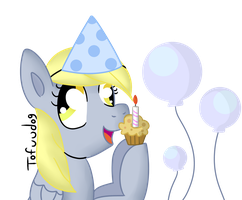Birthday Derpy by tofuudog