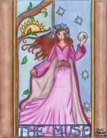 The muse-A stained glass-art nuveau style by Paty-Longbottom21
